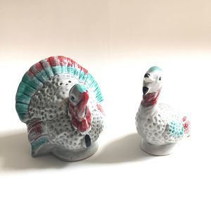 VTG Turkey Salt and Pepper Shakers DISPLAY Only